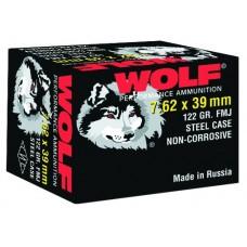 Wolf 762BFMJ Performance 7.62x39mm Bimetal FMJ 123 GR 1000 Rds