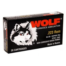 Wolf 22355 Performance 223 Remington/5.56 NATO Bimetal Jacket 55 GR 500 Rds