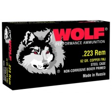 Wolf 22362 Performance 223 Remington/5.56 NATO Bimetal Jacket 62 GR 500 Rds