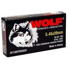 Wolf 545BFMJ Performance 5.45x39mm Bimetal FMJ 60 GR 750 Rds