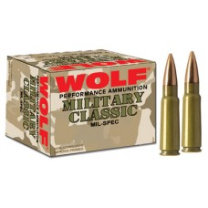Wolf 308FMJ Performance 308 Winchester/7.62 NATO Bimetal Jacket 145 GR 500 Rds
