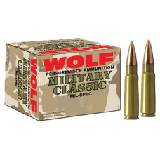 Wolf 76254FMJ174 Performance 7.62x54mm Russian FMJ 174 GR 500 Rds