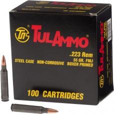 Tulammo TA223100 Centerfire Rifle 223 Rem/5.56 NATO 55 GR FMJ 100 Bx/ 10 Cs