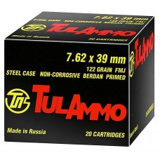 Tulammo UL076210 Centerfire Rifle 7.62X39mm 122 GR FMJ 100 Bx/ 10 Cs