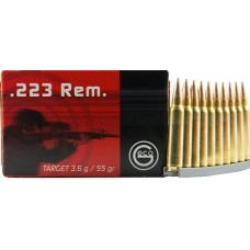 GECO 256140050 Vollmantel 223 Remington/5.56 NATO 55 GR Full Metal Jacket 50 Bx/ 20 Cs