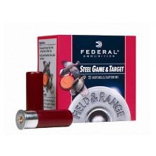 "Federal FRS206 Standard Field & Range Steel 20 ga 2.75"" 3/4oz 6 Shot 25Bx/10Cs"
