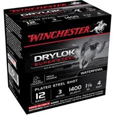 "Winchester Ammo XSV1234 Drylock 12 Gauge 3"" 1-1/4 oz 4 Shot 25 Bx/10 Cs"