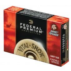 """Federal P151TC Vital-Shok Trophy Copper Sabot Slug 12 Gauge 3"""" 11/16 oz Sabot Slug Shot 5 Bx/ 50"""