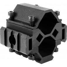"Aim Sports MT025 Shotgun Tri-Rail Barrel Mount Universal 12 Gauge 1.5"" Aluminum"