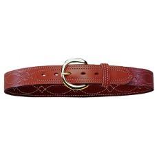 "Bianchi 12871 Fancy Stitch Belt B12 38"" Tan Leather"
