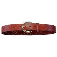 "Bianchi 12872 Fancy Stitch Belt B12 40"" Tan Leather"