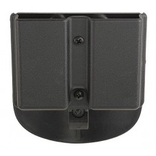 "Uncle Mikes 51361 Kydex DBL MAG Case 5136-1 Fits Belt Loops up to 1.75"" Black"