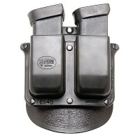 Fobus 6945P DOUBLE MAG PADDLE 6945P Double Stack Black Plastic