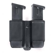 Blackhawk 410610CBK  Double Mag Pouch Adjustable  9mm-40Cal Blk/Carbon Fiber