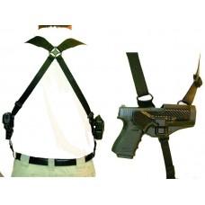 Blackhawk 41SH00BK Serpa Shoulder Harness Medium Black Nylon