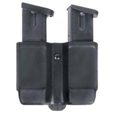 Blackhawk 410510PBK Double Magazine Case 9mm/40 Cal/45 Cal/357Sig Single Stack Black Synthetic