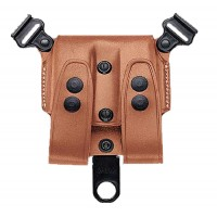 Galco SCL24 SCL Double Mag Carrier 24 Holds 2 Magazines Tan Leather
