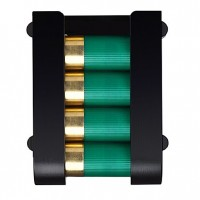 Safariland 0851223MS34  Holds 4 shells Black Hard Plastic
