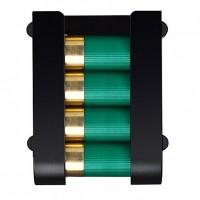Safariland 0851223MS36  Holds 4 shells Black Hard Plastic