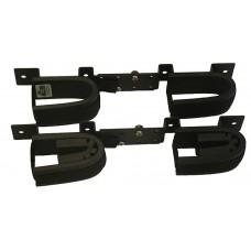 Rugged Gear 10065 Screw Mount Double Hook Black Steel