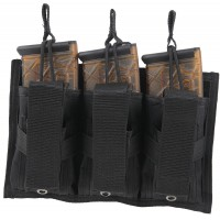 Bulldog CLT62 Colt Tactical Tri-Double MOLLE Mag Pouch Black Nylon