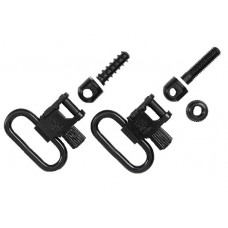 "Uncle Mikes 10712 Quick Detach Sling Swivels 1"" Black Steel"