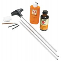 Hoppes U22 Rifle Cleaning Kit Aluminum Rod 22-257 Cal w/Plastic Box