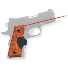 Crimson Trace LG404P1 Pro-Custom Lasergrips Red 1911 Compact Poly Burlwood
