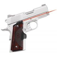 """Crimson Trace LG902 Mstr Ser Lasergrip 1911Def/Off 633nm .5""""@50ft Rosewd G10"""