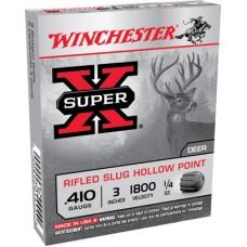 "Winchester Ammo X413RS5 Super-X 410 Gauge 3"" 1/4 oz Slug Shot 5 Bx/ 50 Cs"