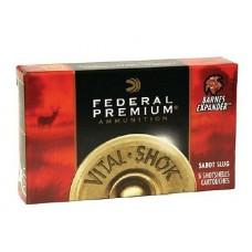 "Federal PB127RS Vital-Shok 12 Gauge 2.75"" 1 oz Slug Shot 5 Bx/ 50 Cs"