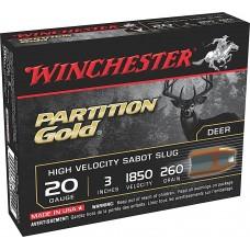 """Winchester Ammo SSP203 Supreme Partition Gold Slug 20 Gauge 3"""" 260 GR Sabot Slug Shot 5 Bx/ 20"""