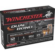 "Winchester Ammo SSDB123 Elite Dual Bond 12 Gauge 3"" 375 GR Sabot Slug Shot 5 Bx/20 Cs"
