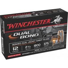 "Winchester Ammo SSDB12 Elite Dual Bond 12 Ga 2.75"" 375 GR Sabot Slug Shot 5 Bx/ 20 Cs"