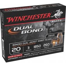 "Winchester Ammo SSDB203 Elite Dual Bond 20 Gauge 3"" 260 GR Sabot Slug Shot 5 Bx/ 20 Cs"