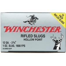 "Winchester Ammo X12RS15VP Super-X 12 Gauge 2.75"" 1 oz Slug Shot 15 Bx/ 10 Cs"