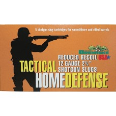 "Brenneke 4205126 Tactical Home Defense 12ga Rifled Lead 2.75"" 1oz Slug 5 Bx/40Cs"