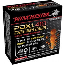 "Winchester Ammo S410PDX1 Elite 410 Gauge 2.5""  3 Defense Discs/12 BBs Shot 10 Bx/10 Cs"