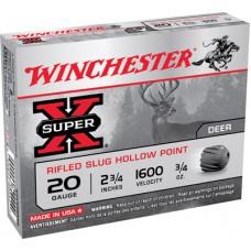 "Winchester Ammo X20RSM5 Super-X 20 Gauge 2.75"" 3/4 oz Slug Shot 5 Bx/50 Cs"