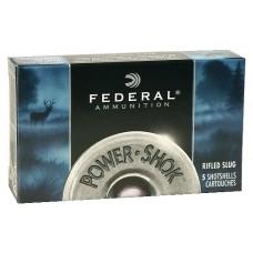 "Federal F127RS Power-Shok 12 Gauge 2.75"" 1 oz Slug Shot 5 Bx/ 50 Cs"