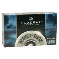 "Federal F131RS Power-Shok 12 Gauge 3"" 1-1/4 oz Slug Shot 5 Bx/ 50 Cs"
