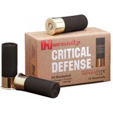 """Hornady 86240 Critical Defense 12 Gauge 2.75"""" Lead 8 Pellets 00 Buck 10 Bx/ 25 Cs"""