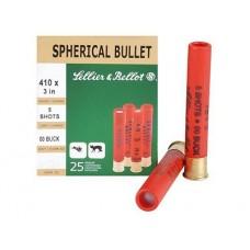 "Sellier & Bellot V051562U 410ga 3"" 00 Buckshot 5 Pellets 25Box/20Case"
