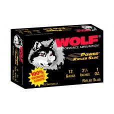 """Wolf 12SLUG Buckshot Slug Shotshells 12 ga 2.75"""" 1 oz 5 Box/50 Case"""