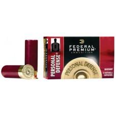 "Federal PD2564B Premium Personal Defense 20 Gauge 2.75"" Buckshot 24 Pellets 4 Buck 5 Bx/ 50 Cs"