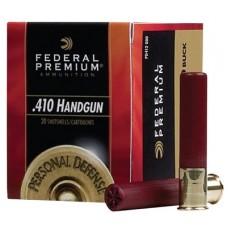 "Federal PD413JGE000 Premium Personal Defense 410 Gauge 3"" Buckshot 5 Pellets 000 Buck 20 Bx/ 10 Cs"