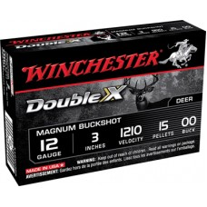 "Winchester Ammo X12XC3B5 Double X 12 Gauge 3"" Copper-Plated Lead 15 Pellets 5 Bx/ 50 Cs"