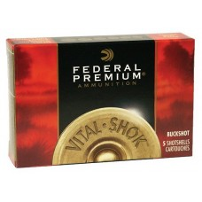 "Federal P2563B Vital-Shok 20 Gauge 2.75"" Buckshot 20 Pellets 3 Buck 5 Bx/ 50 Cs"