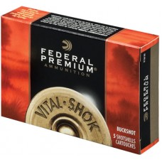 "Federal P135F00 Vital-Shok 12 Gauge 3.5"" Buckshot 18 Pellets 00 Buck 5 Bx/ 50 Cs"