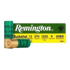 """Rem12B00A 12ga 00 Buck 25Bx/10Cs 2.75"""" 9 Pellets Buckshot Express"""